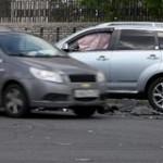 Near miss car accident